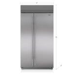 Sub ZeroSub Zero 42&quot Classic Side-by-Side Refrigerator/Freezer with Internal Dispenser