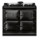 """Dual Control 39"""" Electric Black with Stainless Steel trim"""