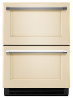 "24"" Panel Ready Double Refrigerator Drawer