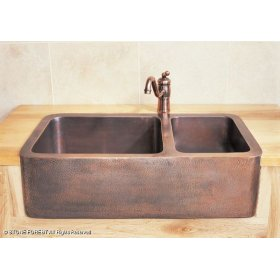 Copper Farmhouse Sink Clearance : ... in by Stone Forest in Atlanta, GA - Double Basin Copper Farmhouse Sink