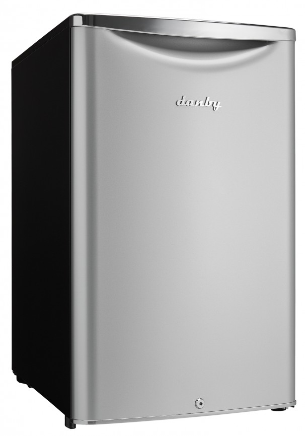Danby 4.4 Cu.ft. Compact Refrigerator  Black with Stainless Steel Look