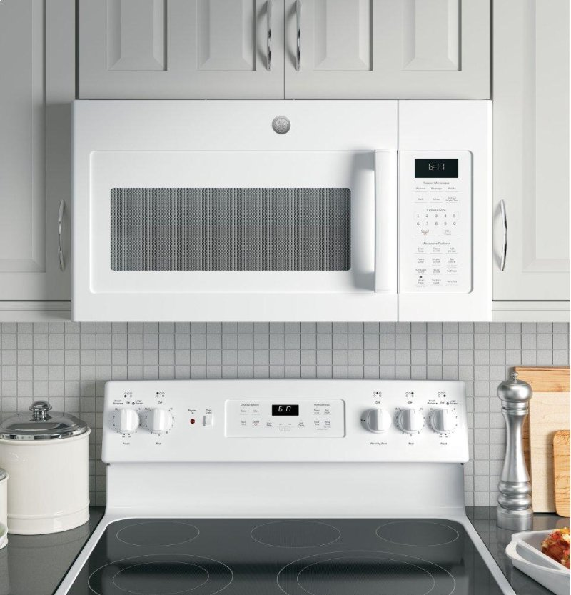 Amana 2 0 cu ft over the range microwave in white with sensor - Ge Appliances Jvm6175dkww In New Hartford Ny Ge 174 1 7 Cu