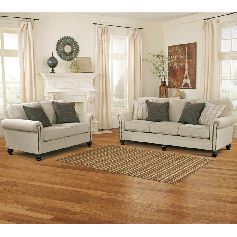 Signature Design by Ashley Milari Living Room Set in Linen