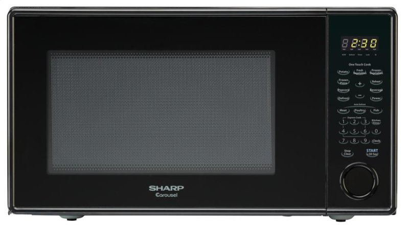 ... PA - Sharp Carousel Countertop Microwave Oven 1.3 cu. ft. 1000W Black