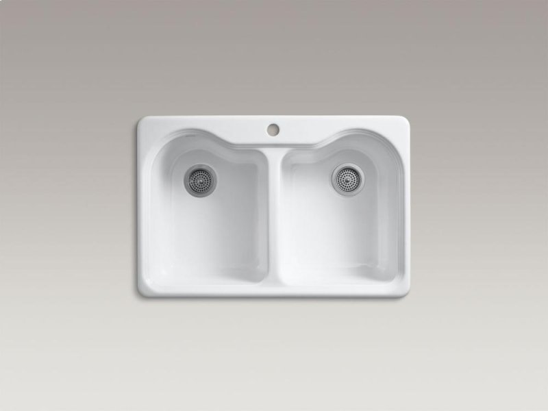 Franke Sink Tap Hole Cover : ... Top-mount Double-equal Kitchen Sink With Single Faucet Hole