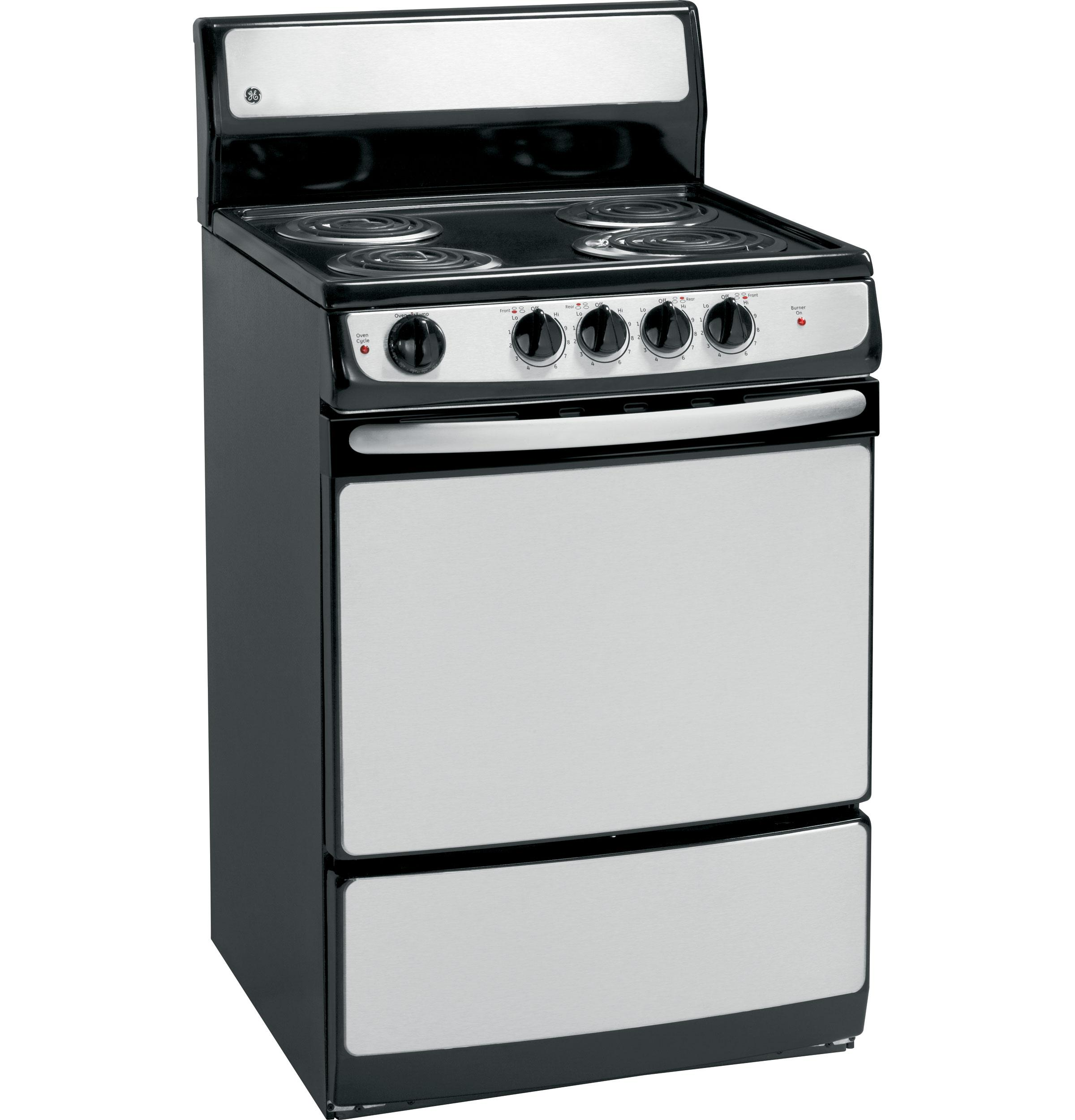 "GE(R) 24"" Standard Clean Free-Standing Electric Range