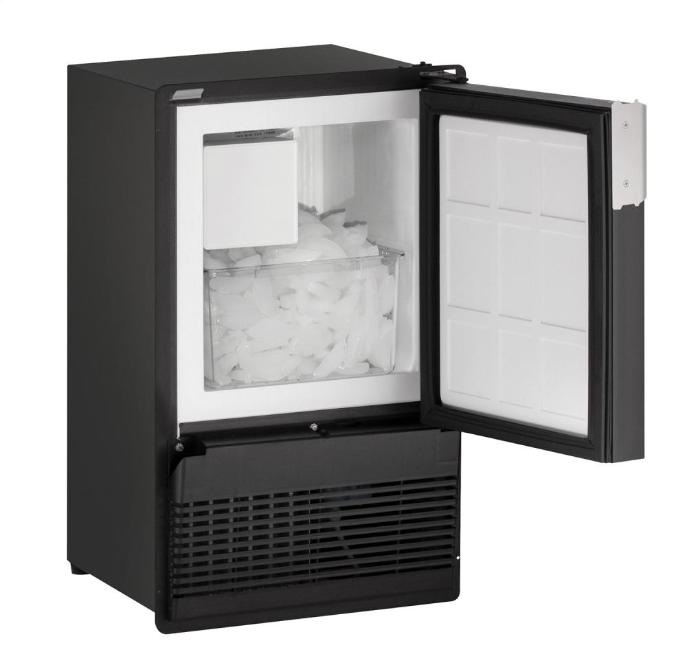 """Marine Series 14"""" Marine Crescent Ice Maker With Black Solid Finish and Field Reversible Door Swing  Black Solid"""