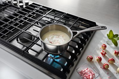 kitchenaid cooktops gas stainless steel kcgd506gss