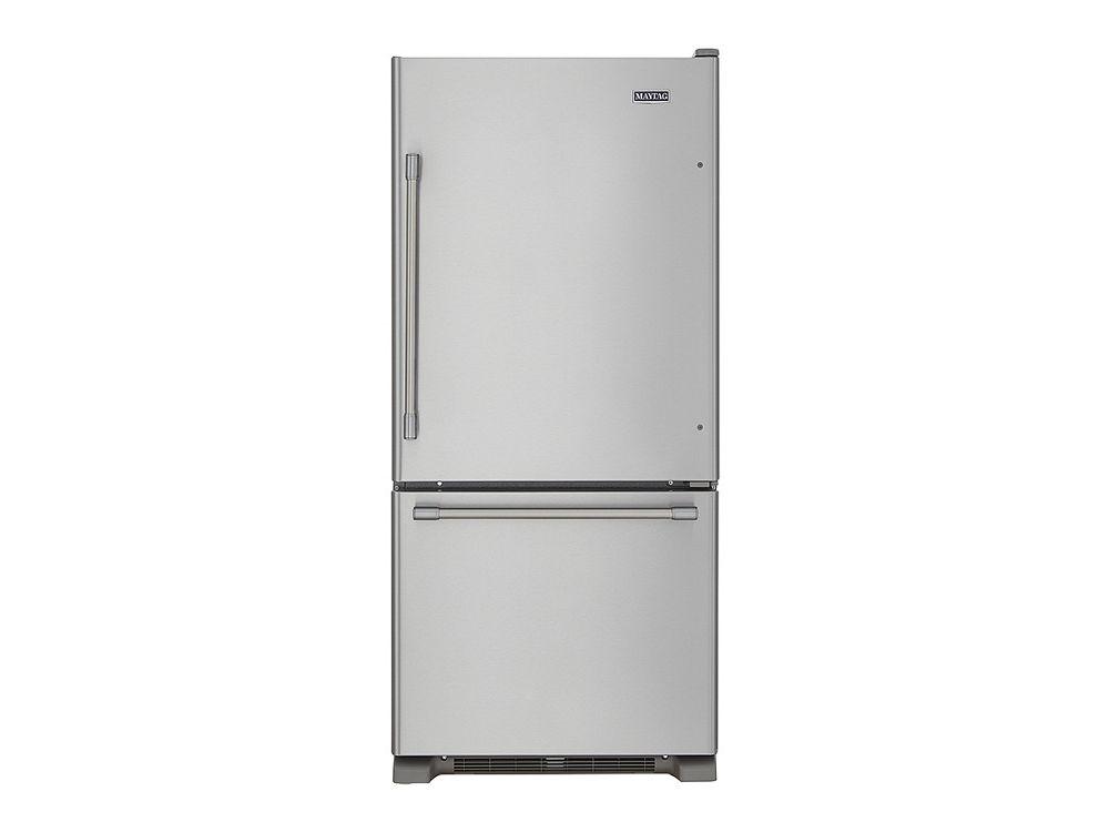 refrigerator 30 wide. hidden · additional 30-inch wide bottom mount refrigerator - 19 cu. ft. 30