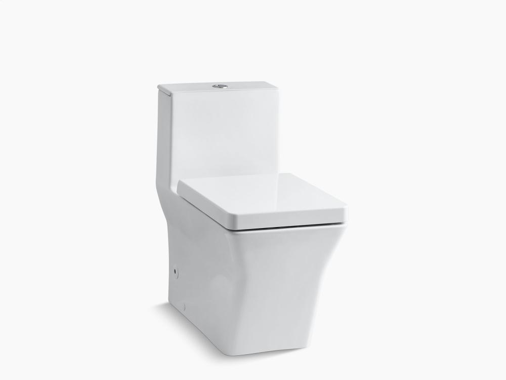 white comfort height skirted onepiece elongated dualflush toilet with top actuator
