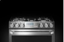 LG SIGNATURE 6.9 cu.ft. Smart wi-fi Enabled Gas Double Oven Slide-In Range with ProBake Convection(R)