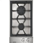 GaggenauVario 200 Series Gas Cooktop Stainless Steel Control Panel Width 12 '' Natural Gas.