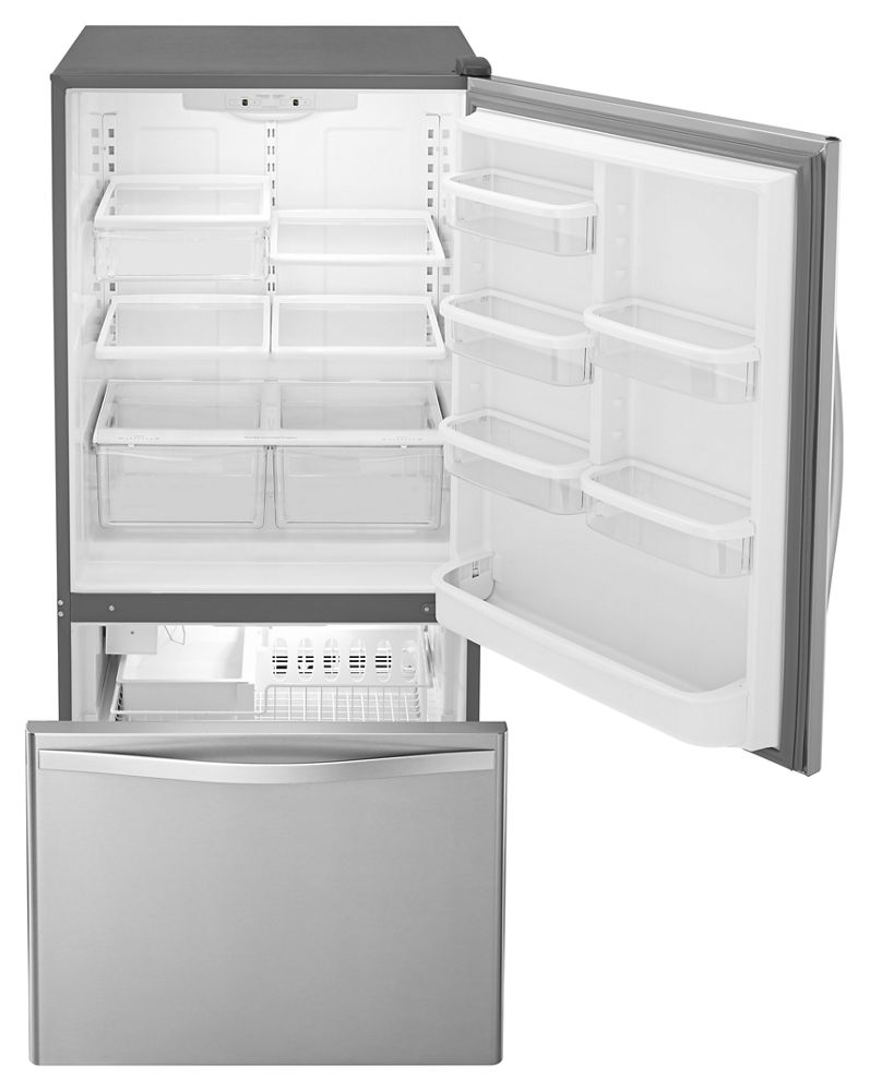 Whirlpool 30 Inches Wide Bottom Freezer Refrigerator