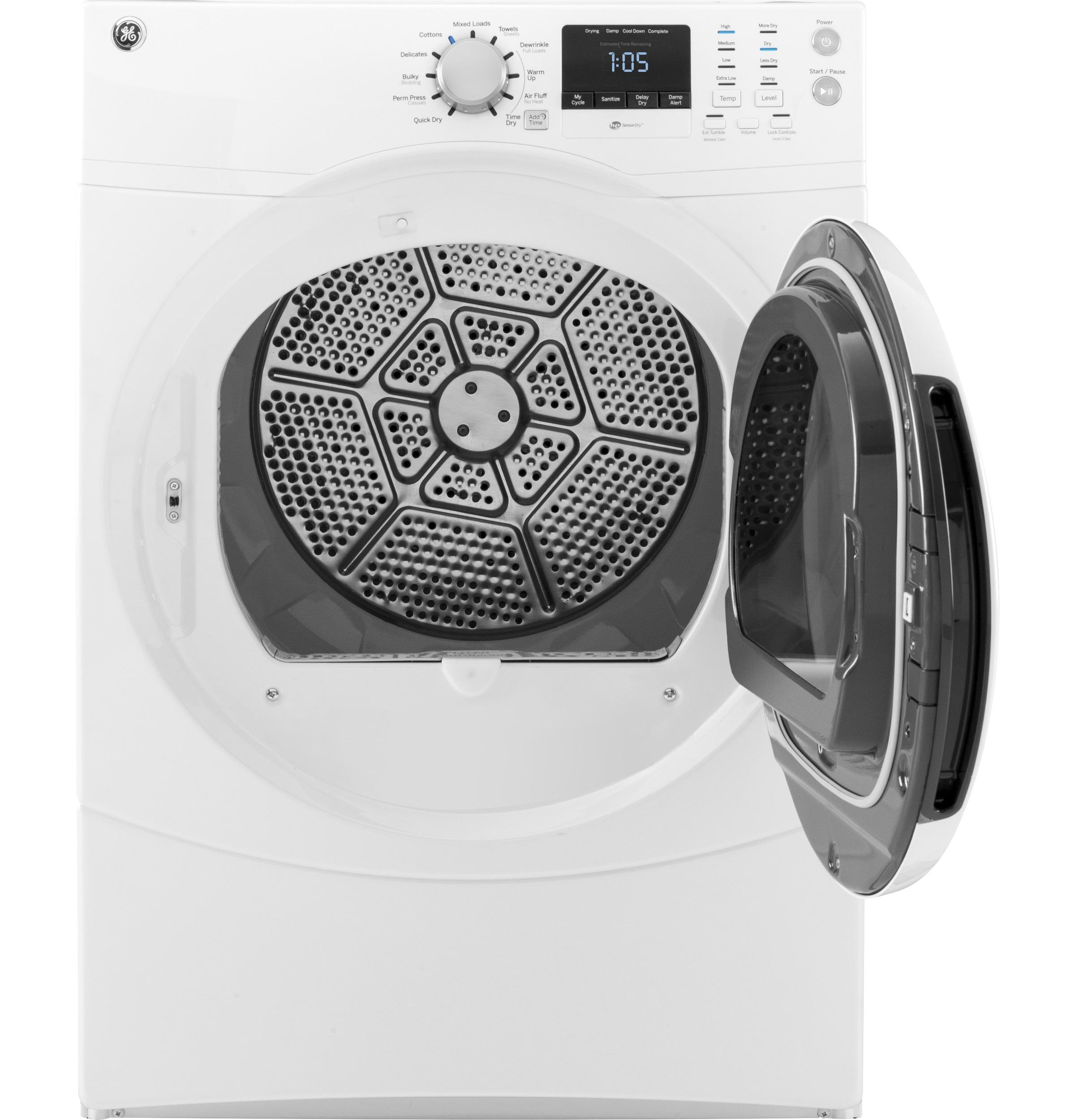 GE(R) 7.5 cu. ft. capacity frontload dryer