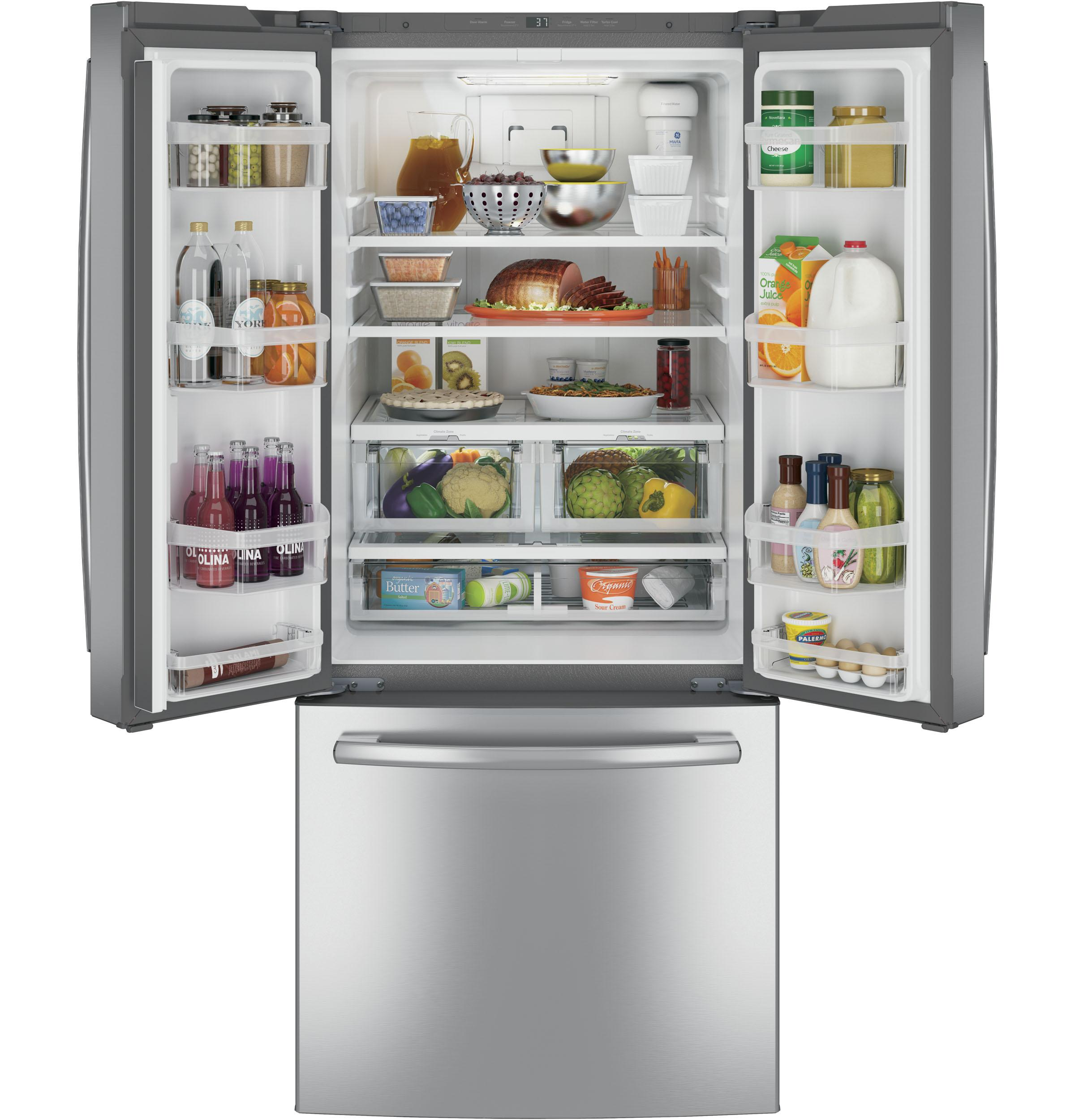 GE(R) ENERGY STAR(R) 20.8 Cu. Ft. French-Door Refrigerator