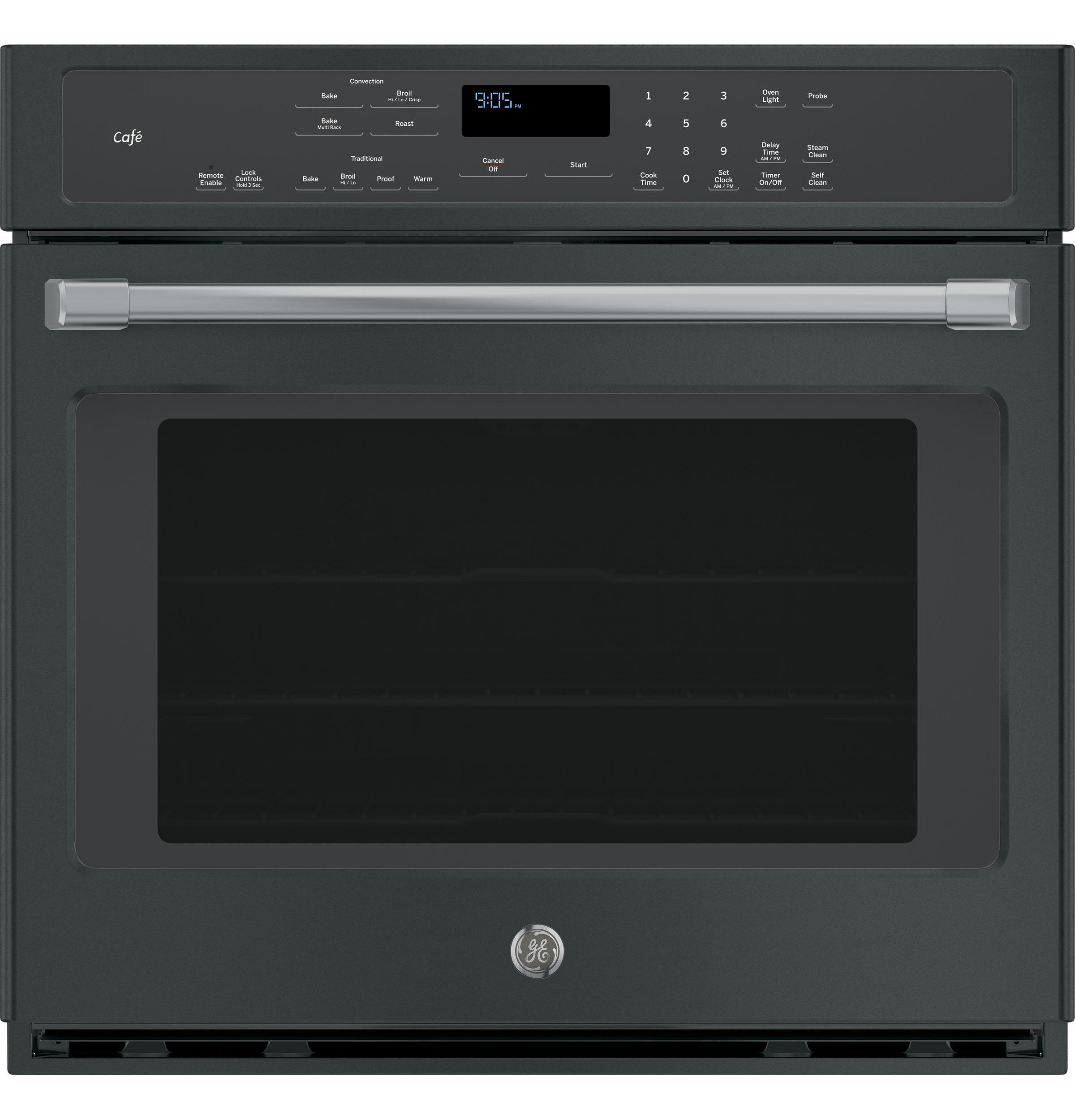 """GE Cafe(TM) Series 30"""" Built-In Single Convection Wall Oven  Black Slate"""