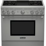 Thermador36 inch Professional Series Pro Harmony Standard Depth All Gas Range PRG364GDH