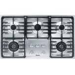 MieleMiele KM 3475 G Gas cooktop with 2 dual wok burners for particularly versatile cooking convenience.