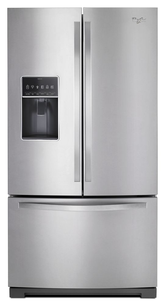 36-inch Wide French Door Bottom Freezer Refrigerator with Dual Icemakers - 27 cu. ft.  Monochromatic Stainless Steel