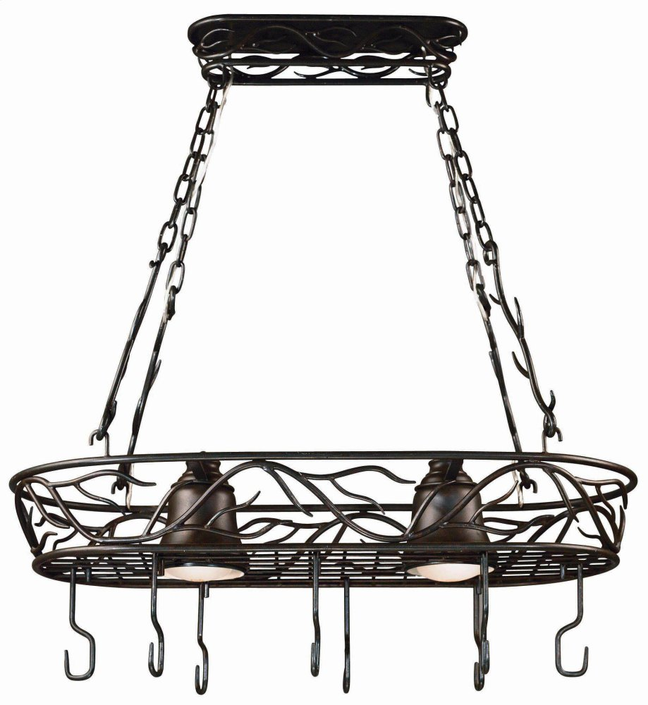 2 Light Pot Rack
