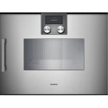 Gaggenau200 series 200 series Combi-steam oven Full glass door in Gaggenau Metallic Width 24&quot (60 cm) Right-hinged Controls on top