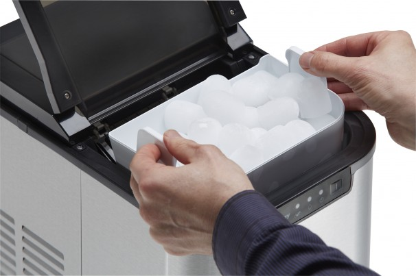 Danby Freezers Ice Makers Black with Stainless Steel