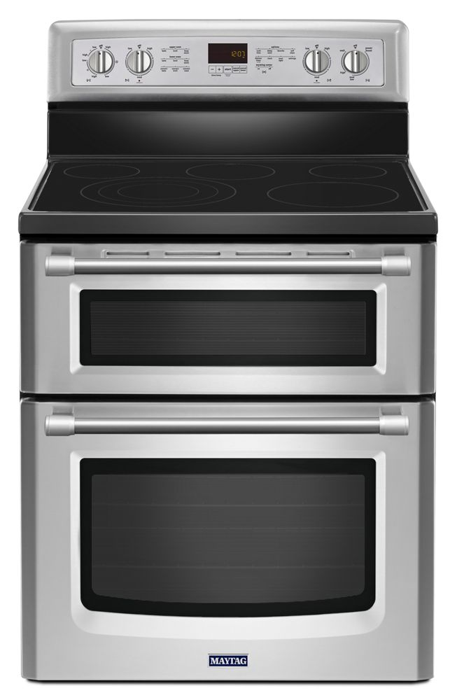 30inch wide double oven electric range with convection 67 cu ft