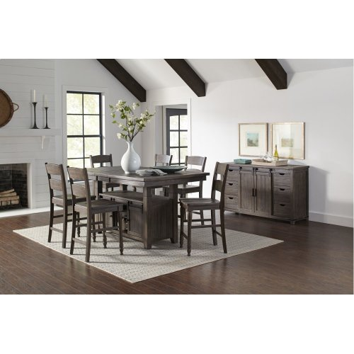 Madison County High Low Table With 6 Stools