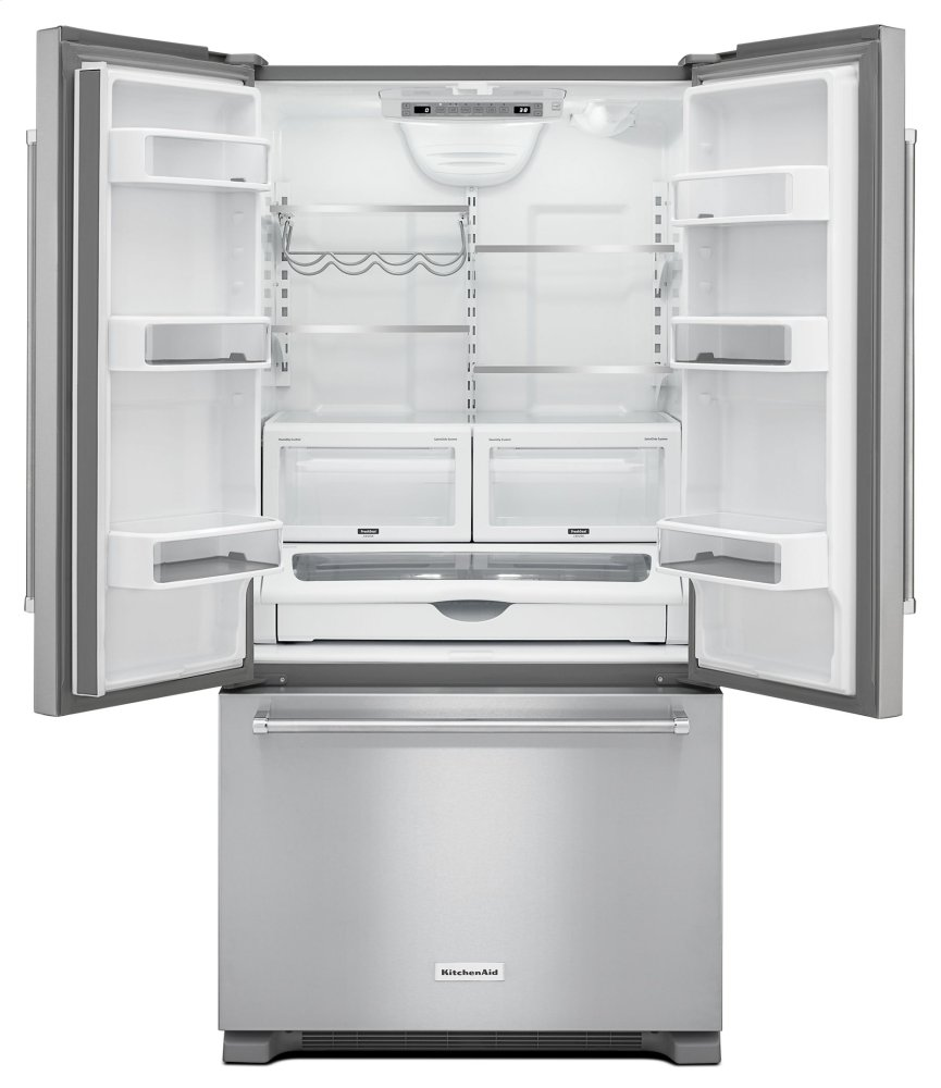 Kitchenaid 22 Cu Ft 36 Inch Width Counter Depth French Door Refrigerator With Interior