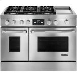 Jenn-AirJenn-Air Pro-Style(R) Dual-Fuel Range with Griddle and MultiMode(R) Convection, 48&quot