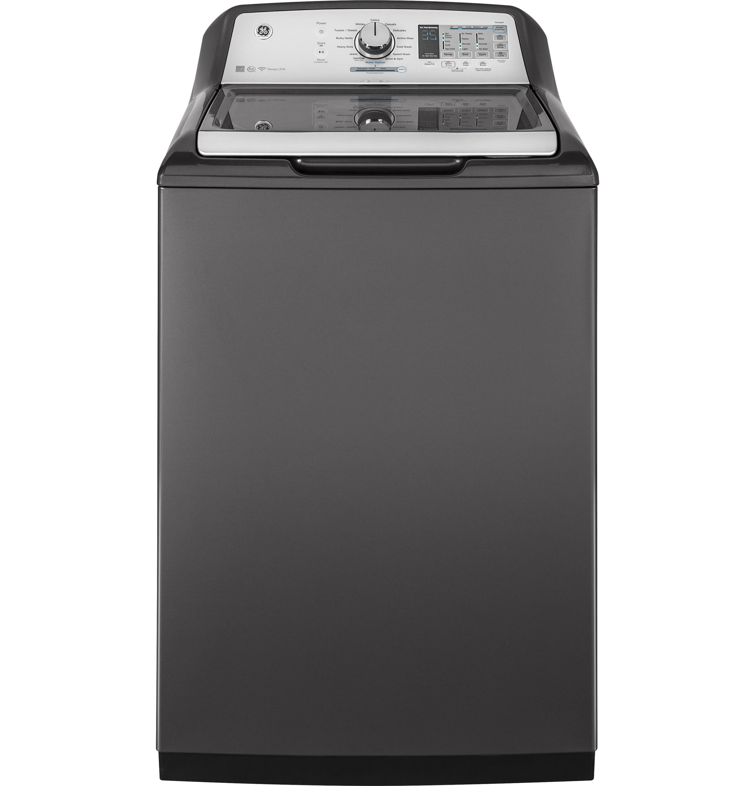 GE(R) 5.0 DOE cu. ft. stainless steel capacity washer