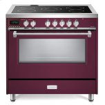 VeronaVerona Burgundy 36&quot Designer Electric Glass Top Range - Designer Series