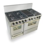 Five StarFive Star 48&quot Dual Fuel, Convect, Self Clean, Sealed Burners, Stainless Steel with Brass Trim