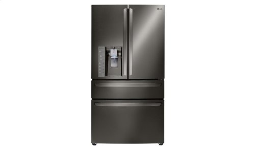 LG Black Stainless Steel Series 23 cu. ft. Counter-Depth 4- Door French Door Refrigerator w/ CustomChill® Drawer