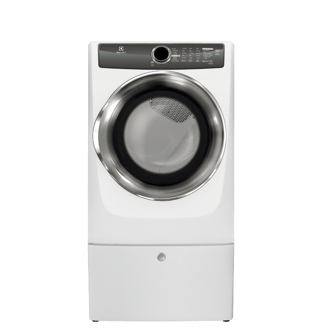 Front Load Perfect Steam(TM) Electric Dryer with Instant Refresh and 8 cycles - 8.0 Cu. Ft.  White