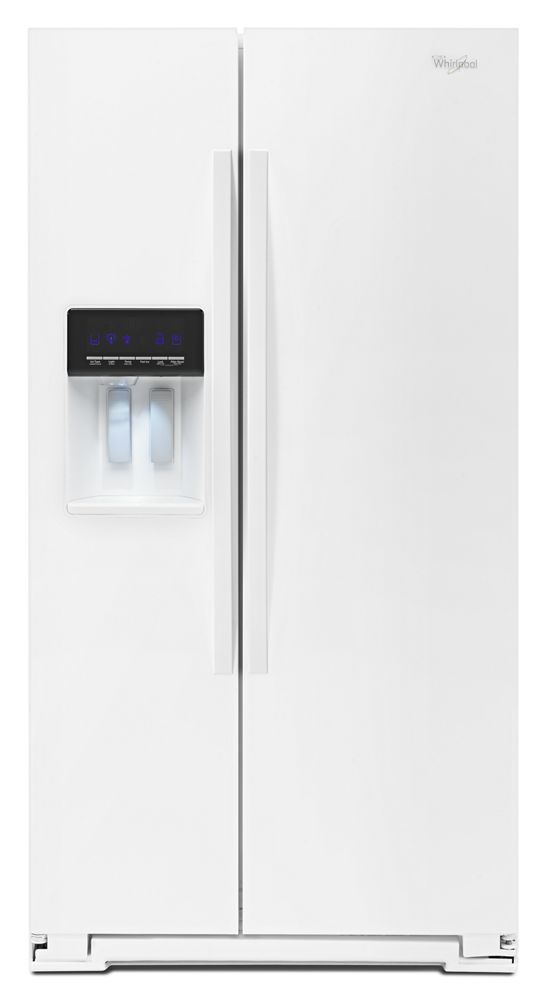 21 cu. ft. Counter Depth Side-by-Side Refrigerator with In-Door-Ice(R) Plus System  White