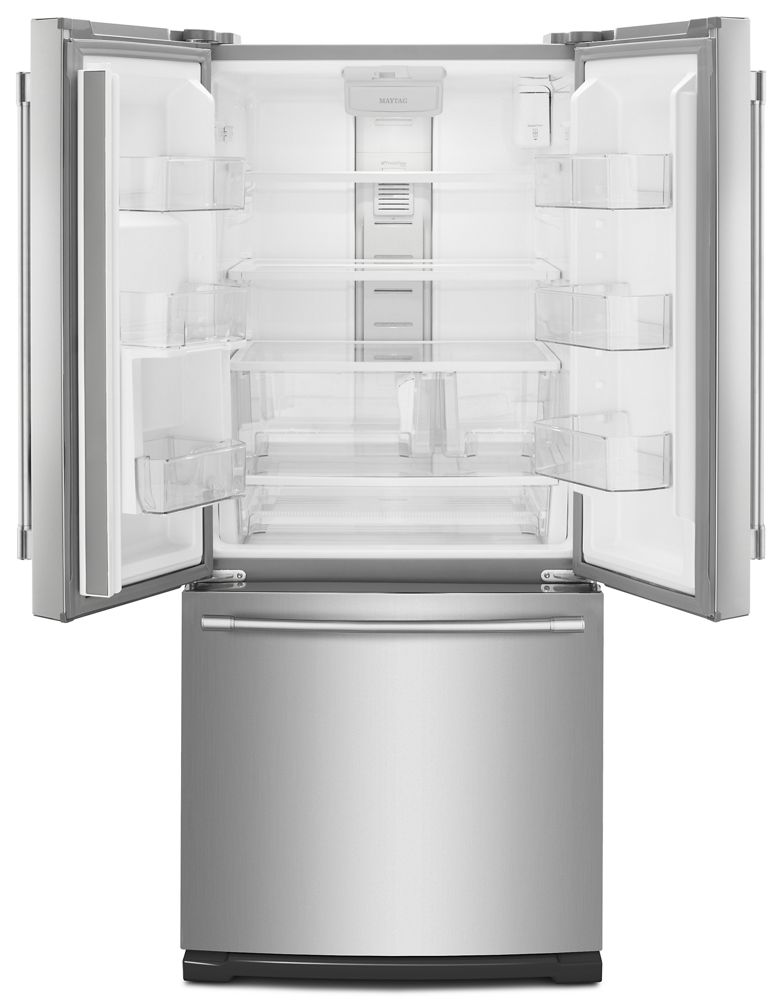Maytag 30 inch wide french door refrigerator with - How wide are exterior french doors ...