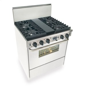 """Five Star 30"""" Dual Fuel, Convect, Self Clean, Sealed Burners, White"""