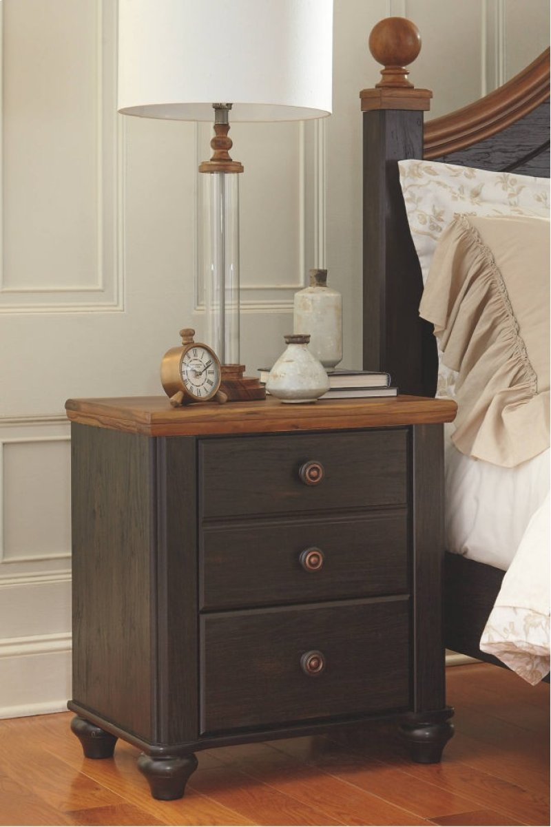B22092 In By Ashley Furniture In Newmarket On Two Drawer Night Stand