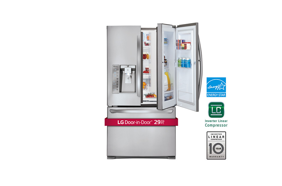 29 cu. ft. Ultra Capacity 3-Door French Door Refrigerator w/Door-in-Door(R)