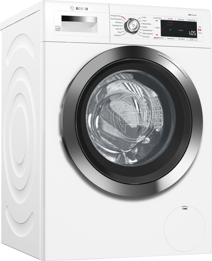 """24"""" Compact Washer, with Home Connect, WAW285H2UC, White/Chrome  White/Chrome"""