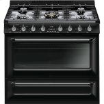SmegSmeg Free-standing All-Gas &quotVictoria&quot Range 36&quot - Glossy black