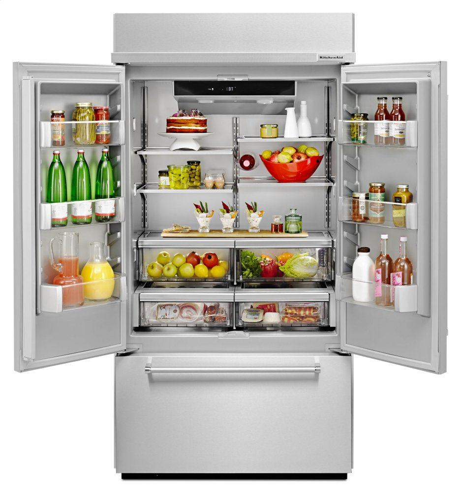 """Kitchenaid 43 24 2 Cu Ft Built In French Door: 24.2 Cu. Ft. 42"""" Width Built-In Panel Ready"""