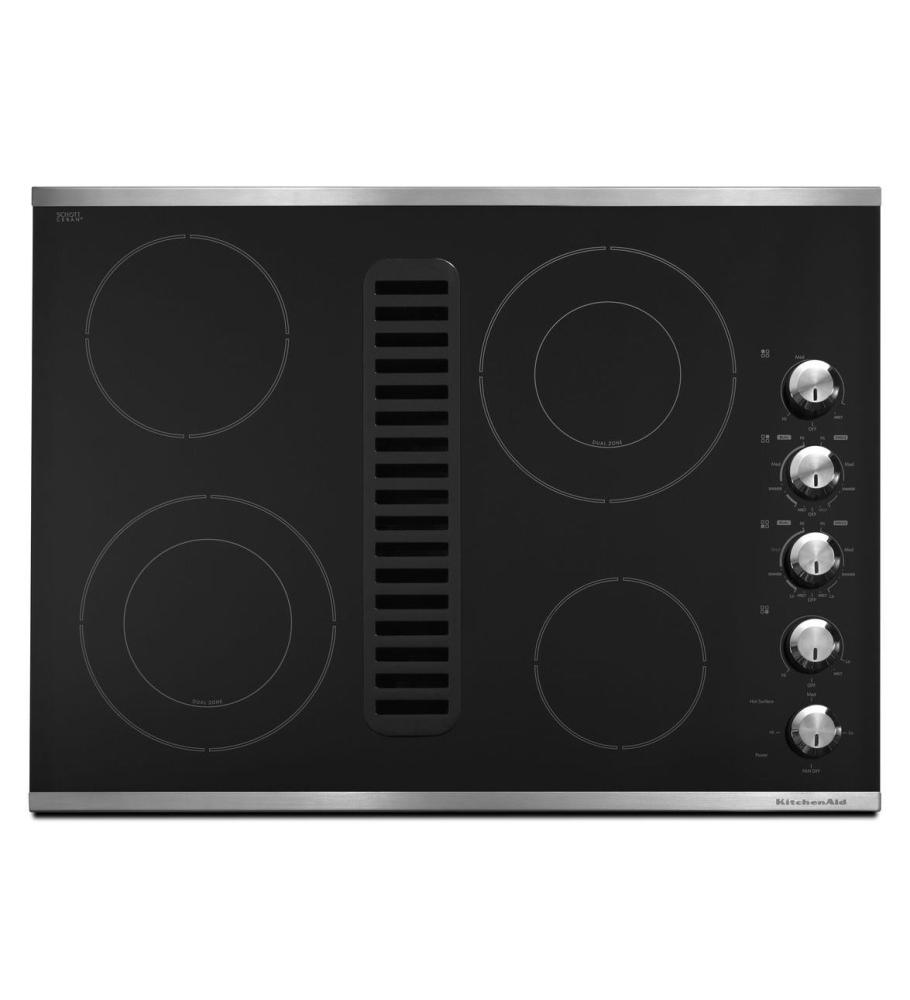 Kitchenaid Electric Cooktop ~ Kecd xss kitchenaid inch element downdraft