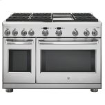 "GE CafeGE CAFEGE Cafe(TM)  48"" Dual-Fuel Professional Range with 6 Burners and Griddle (Natural Gas)"