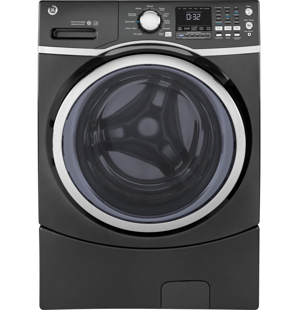 Energy Star 5.2 cu.ft. capacity stainless steel drum frontload washer  Diamond Grey