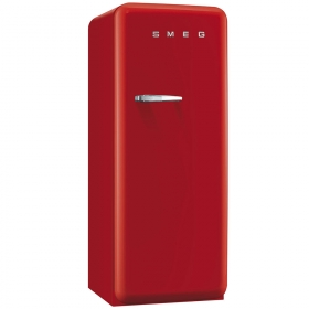 50'S Style Refrigerator with ice compartment, Red, Right hand hinge