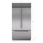 Sub ZeroSub Zero 42&quot Classic French Door Refrigerator/Freezer with Internal Dispenser