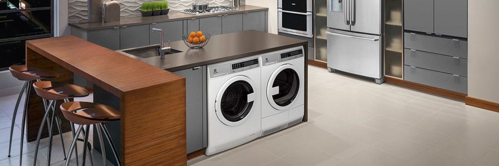 Compact Washer with IQ-Touch(R) Controls featuring Perfect Steam(TM) - 2.4 Cu. Ft.  White