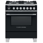 "Fisher Paykel30"" Classic Dual Fuel Range, 4 Burner, Self-cleaning, Black"